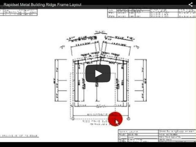 Rapidset Metal Buildings Ridgid Frame Layout