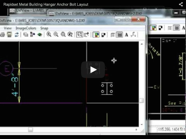 Rapidset Metal Buildings Hangar Anchor Bolt Layout