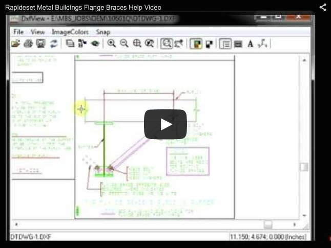 Rapid Set Metal Buildings Flange Braces Help Video